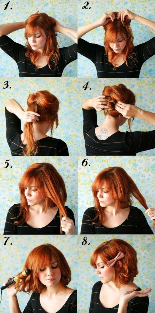 Best ideas about DIY Haircuts For Short Hair . Save or Pin Short Hair No Cutting Hairstyle DIY AllDayChic Now.