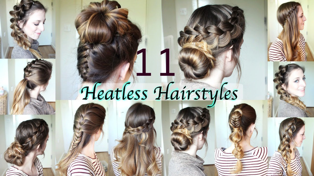 Best ideas about DIY Haircuts For Short Hair . Save or Pin 11 Heatless Hairstyles Now.