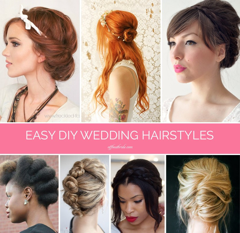 Best ideas about DIY Haircuts For Short Hair . Save or Pin Braids twists and buns 20 easy DIY wedding hairstyles Now.
