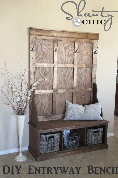 Best ideas about DIY Hall Tree Bench . Save or Pin Shanty Hall Tree Bench Shanty 2 Chic Now.