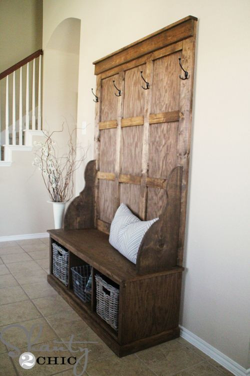 Best ideas about DIY Hall Tree Bench . Save or Pin Storage benches Benches and The rustic on Pinterest Now.