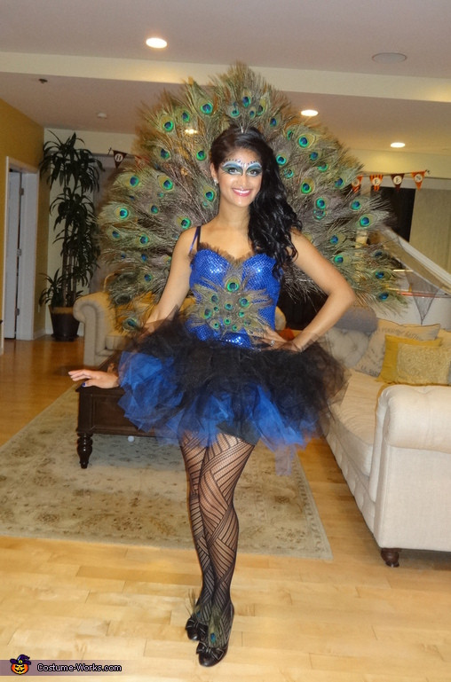 Best ideas about DIY Halloween Costumes Women . Save or Pin Creative DIY Peacock Costume for Women Now.
