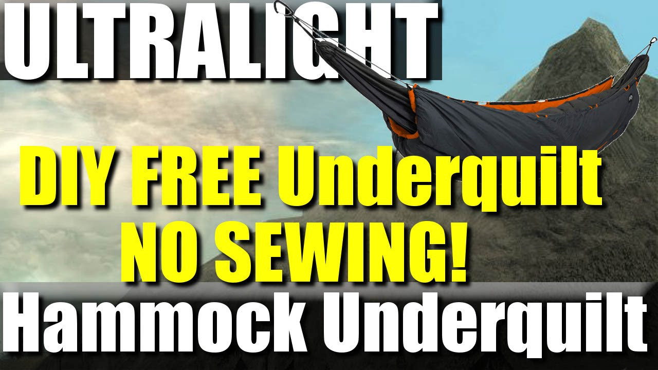 Best ideas about DIY Hammock Underquilt . Save or Pin FREE DIY Ultralight Hammock Underquilt No sewing Now.