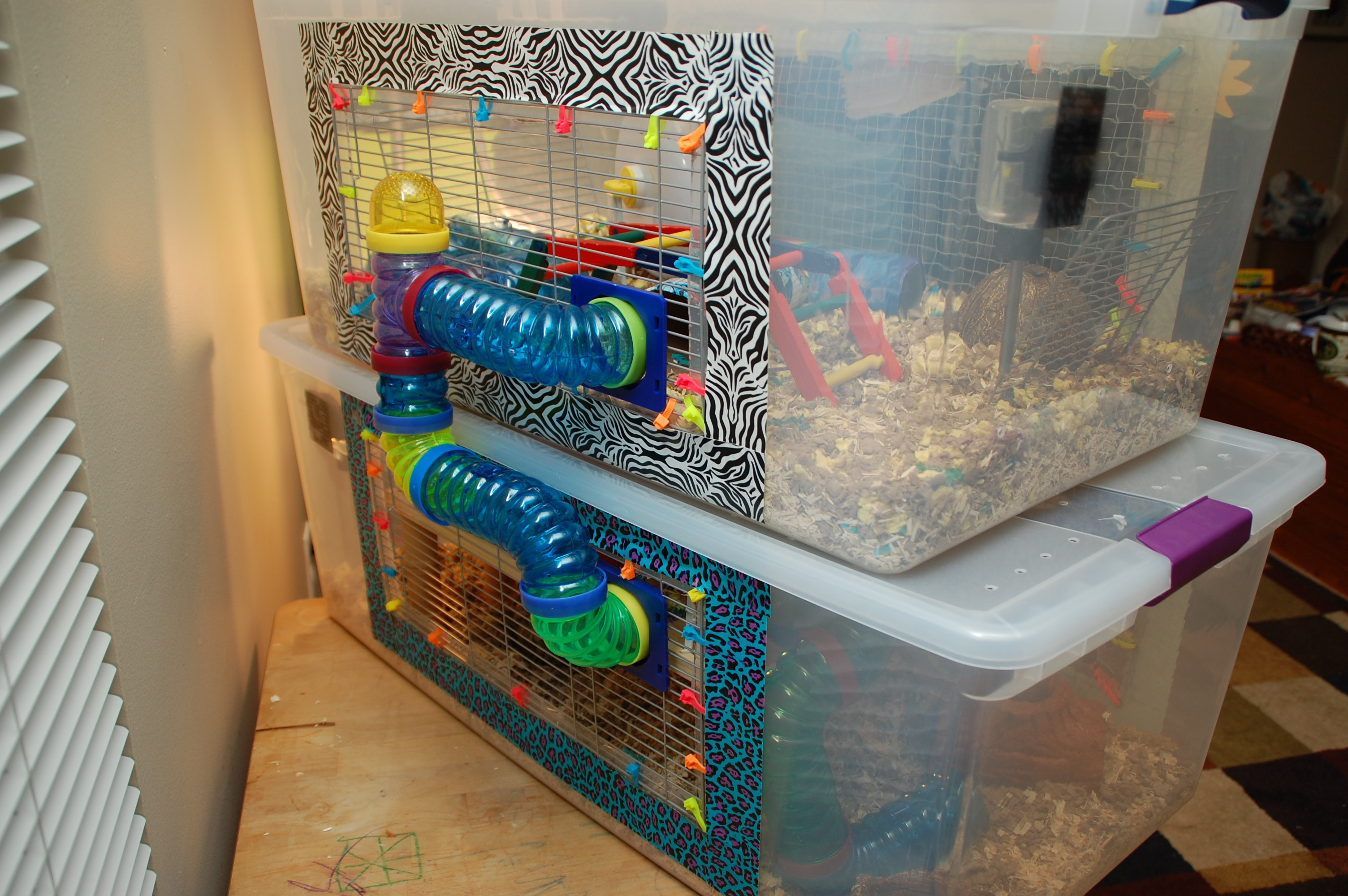 Best ideas about DIY Hamster Cage . Save or Pin DIY Hamster Cage Bin Cage Now.