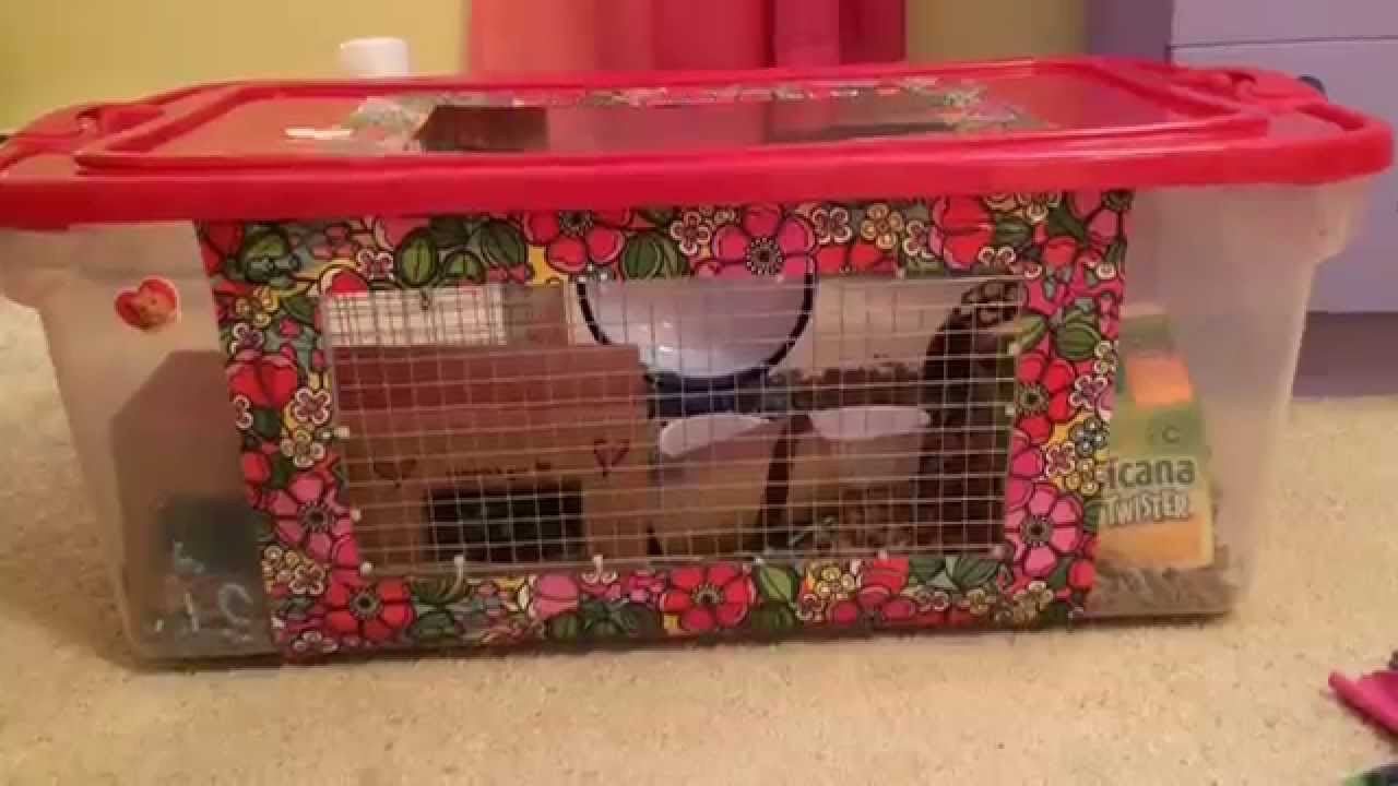Best ideas about DIY Hamster Cage . Save or Pin Making a DIY hamster cage Bin Cage Now.