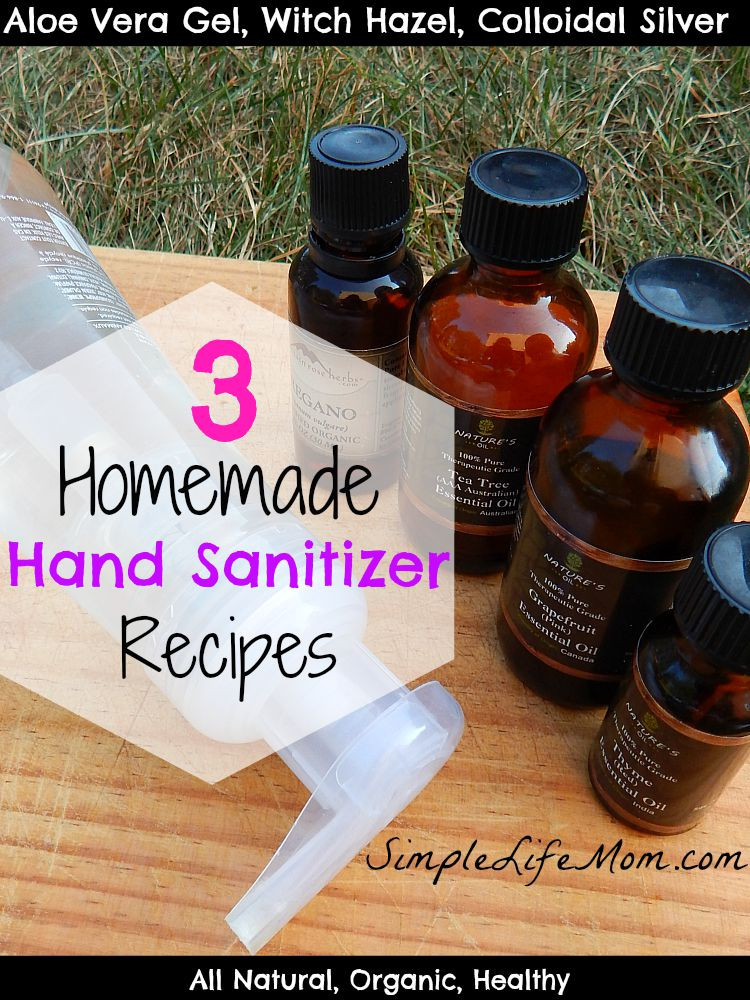Best ideas about DIY Hand Sanitizer . Save or Pin 3 Homemade Hand Sanitizer Recipes Simple Life Mom Now.