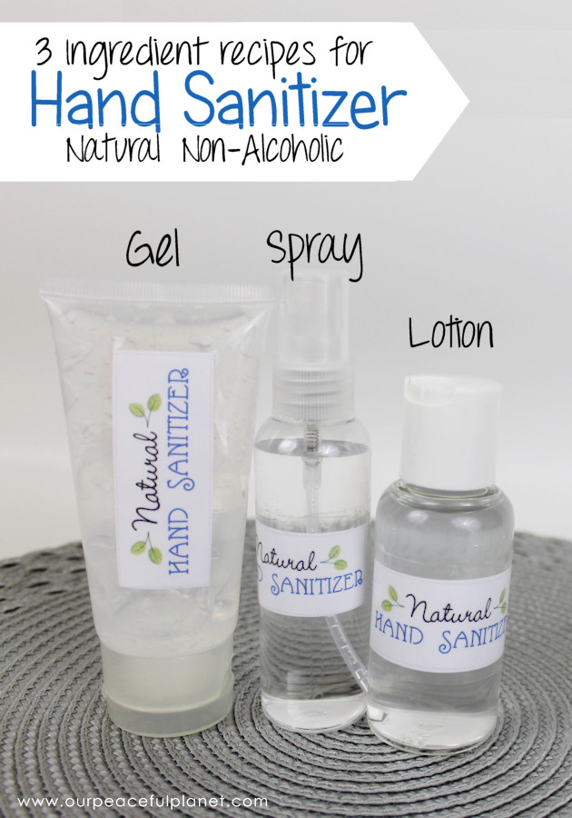 Best ideas about DIY Hand Sanitizer . Save or Pin Natural DIY Hand Sanitizer 3 Ingre nts No Alcohol Now.