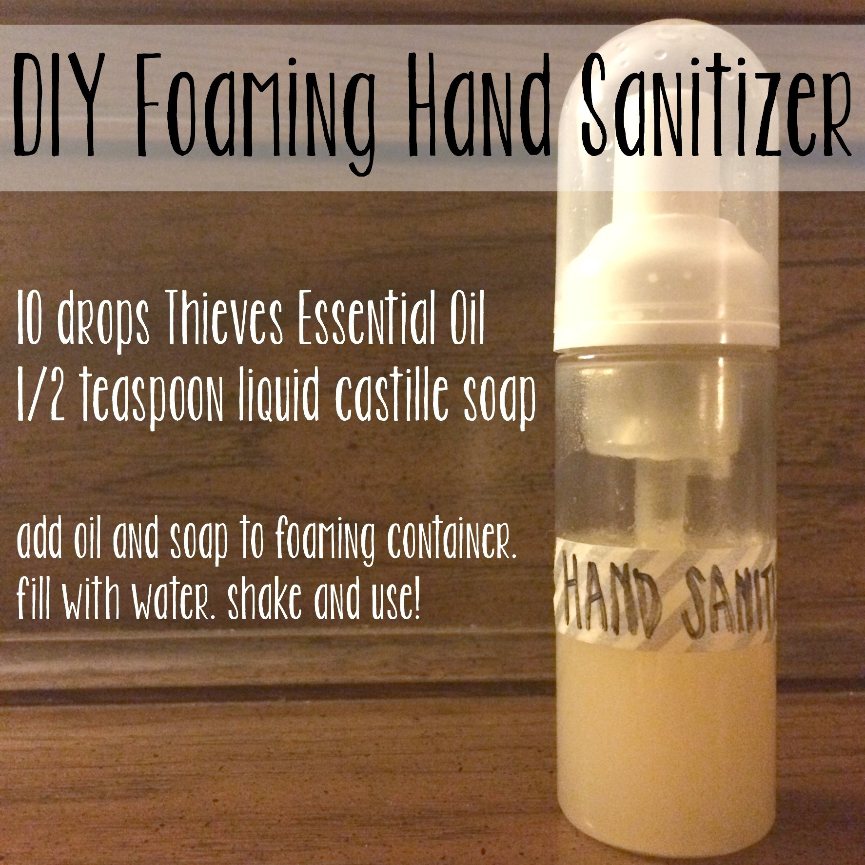 Best ideas about DIY Hand Sanitizer . Save or Pin [31 Days] Day 7 DIY Foaming Hand Sanitizer Now.