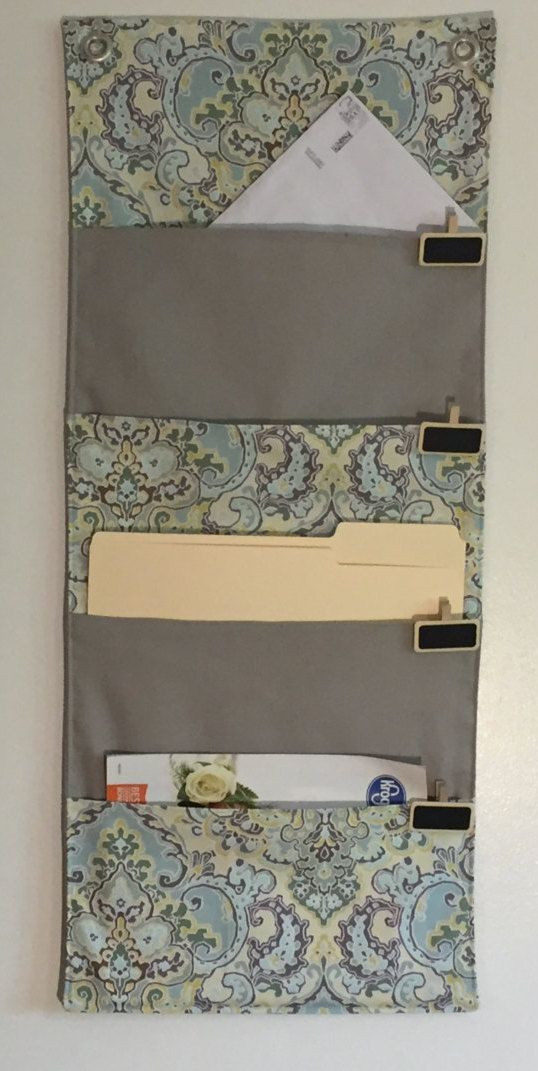 Best ideas about DIY Hanging File Organizer . Save or Pin 4 Pocket hanging file folder organizer wall organizer mail Now.