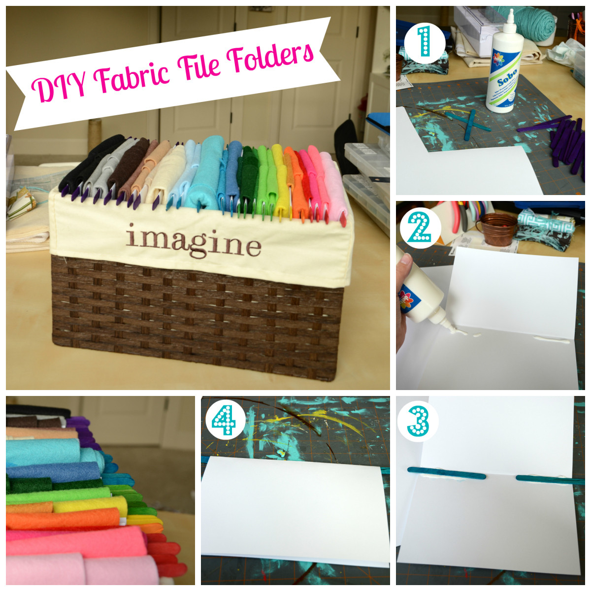 Best ideas about DIY Hanging File Organizer . Save or Pin DIY Fabric File Folders Now.