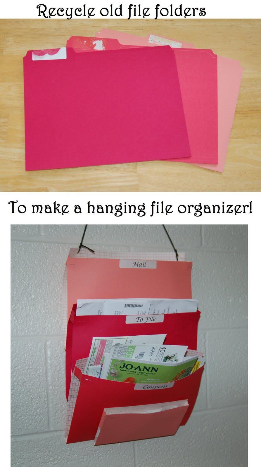 Best ideas about DIY Hanging File Organizer . Save or Pin Living the Craft Life DIY hanging folder organizer Tutorial Now.