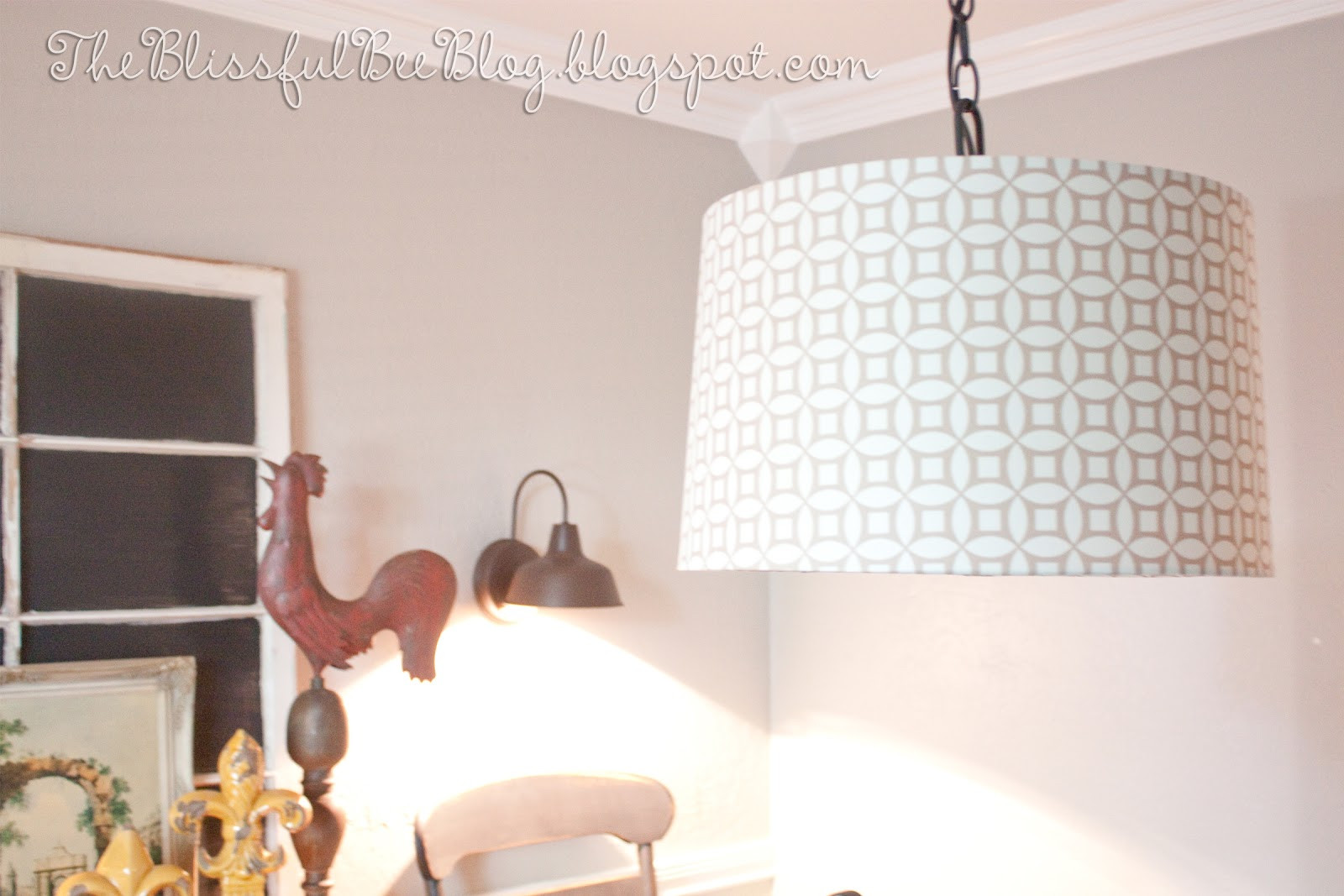 Best ideas about DIY Hanging Lamp . Save or Pin DIY Hanging Drum Light Fixture – THE BLISSFUL BEE Now.
