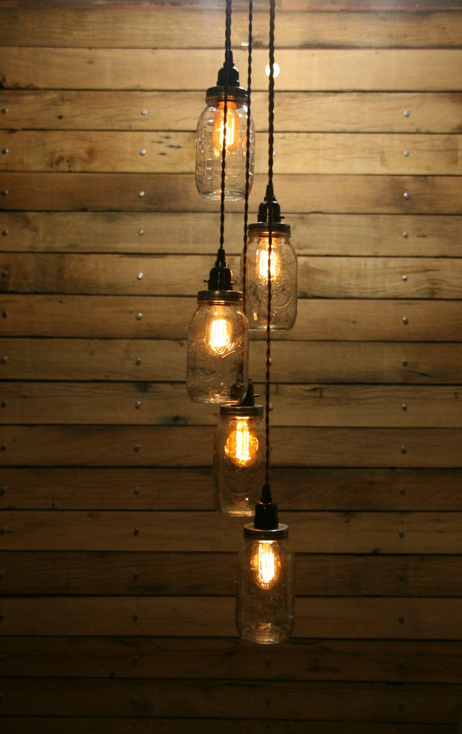 Best ideas about DIY Hanging Lamp . Save or Pin DIY 5 Jar Pendant Light Mason Jar Chandelier by Now.