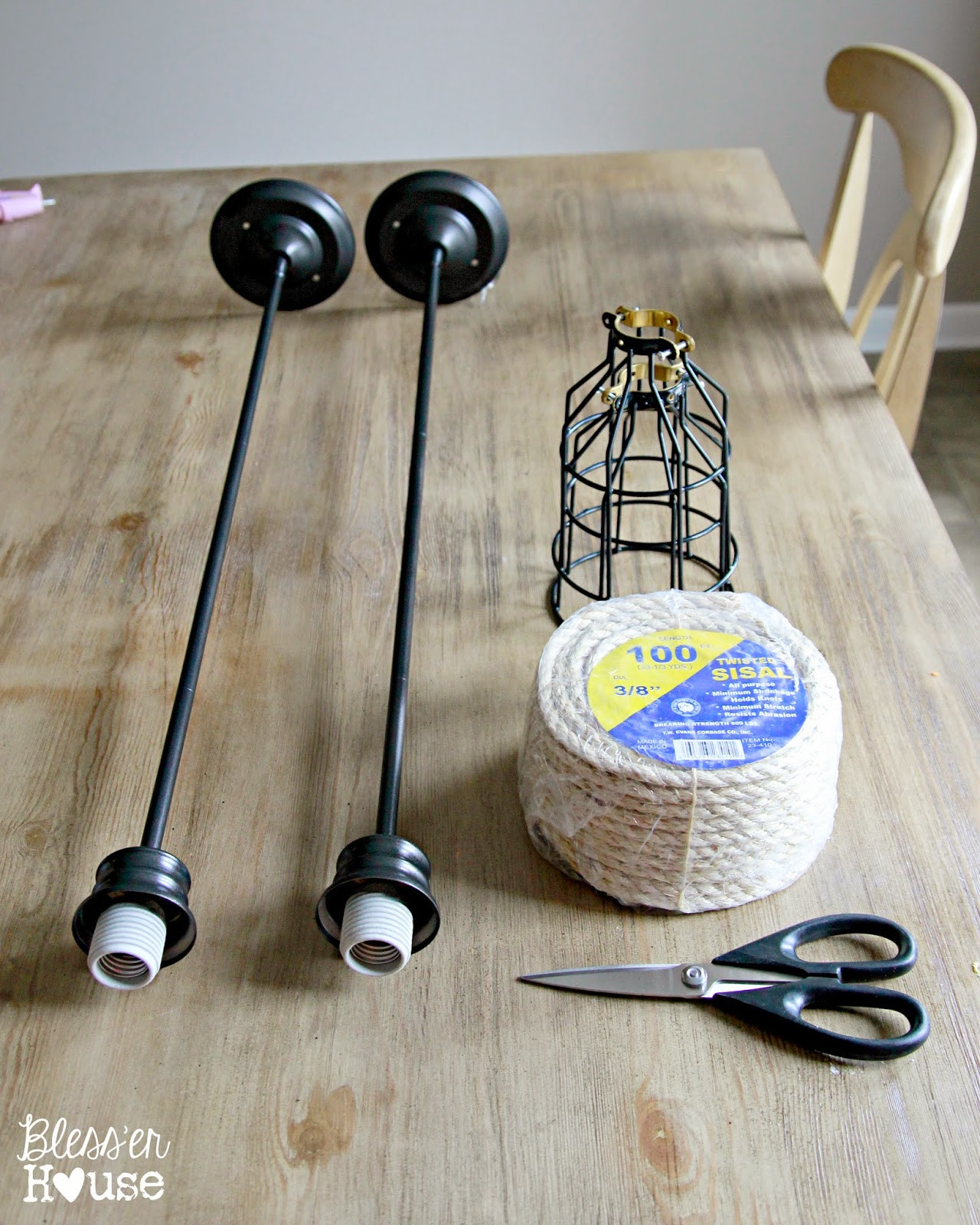 Best ideas about DIY Hanging Lamp . Save or Pin DIY Industrial Pendant Light for Under $10 Bless er House Now.