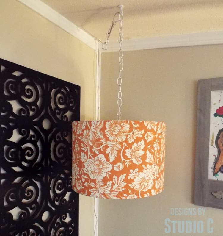 Best ideas about DIY Hanging Lamp . Save or Pin DIY Hanging Light & Lamp Shade Domestically Speaking Now.