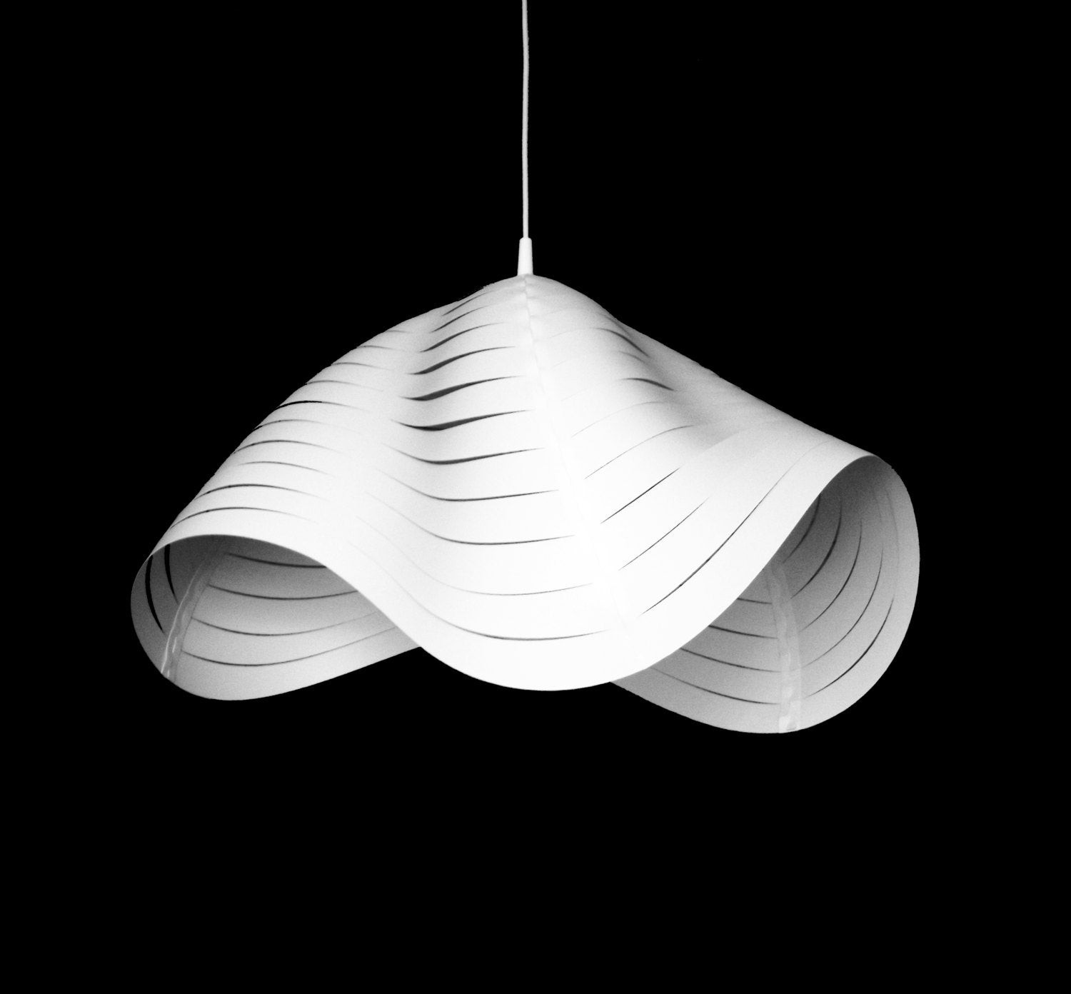 Best ideas about DIY Hanging Lamp . Save or Pin White Hanging Lamp shades DIY Pendant light by smallbigDesign Now.