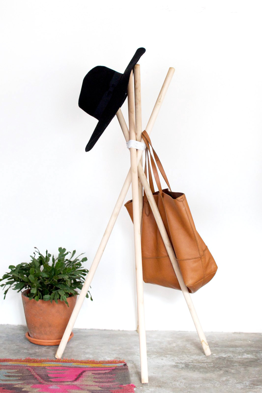 Best ideas about DIY Hat Stand . Save or Pin DIY Quick Wood and Leather hat Rack Now.
