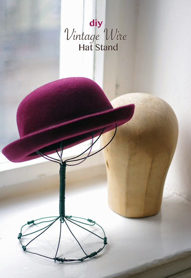 Best ideas about DIY Hat Stand . Save or Pin DIY Vintage Wire Hat Stand Now.
