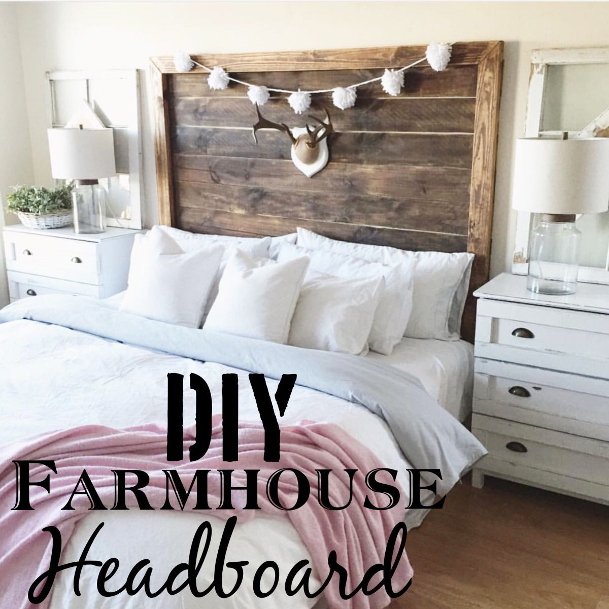 Best ideas about DIY Headboard Ideas For King Beds . Save or Pin DIY King Farmhouse Headboard Now.