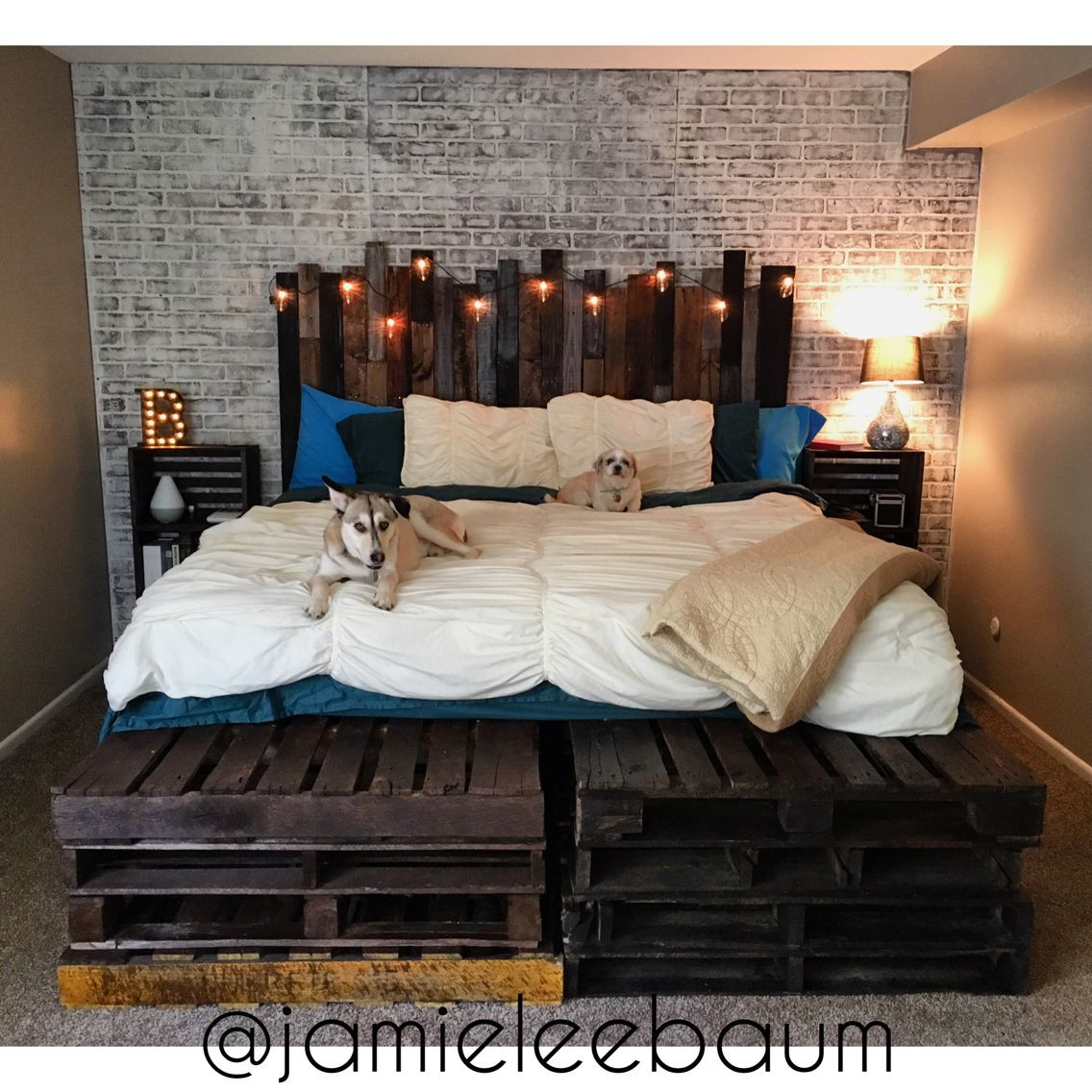 Best ideas about DIY Headboard Ideas For King Beds . Save or Pin King Size Pallet Bed and Headboard DIY Rustic Industrial Now.