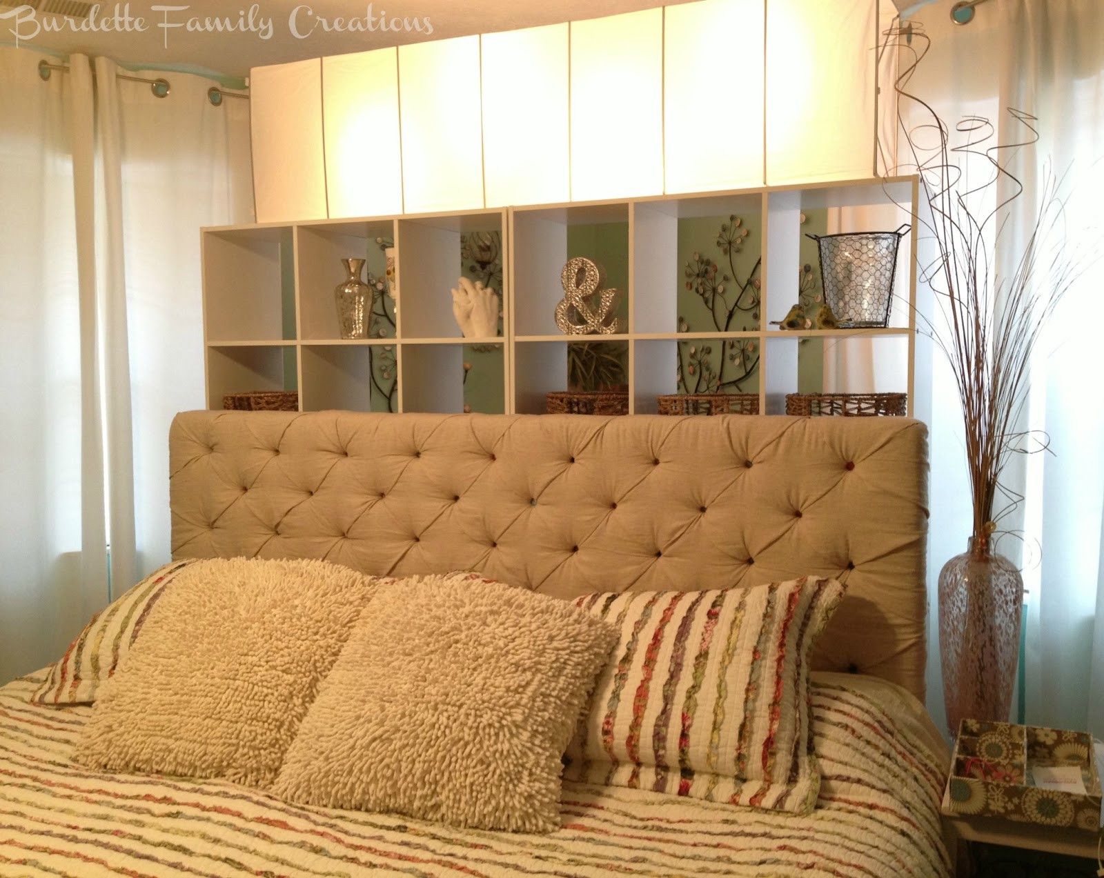 Best ideas about DIY Headboard Ideas For King Beds . Save or Pin Burdette Family Creations My DIY Tufted King Headboard Now.