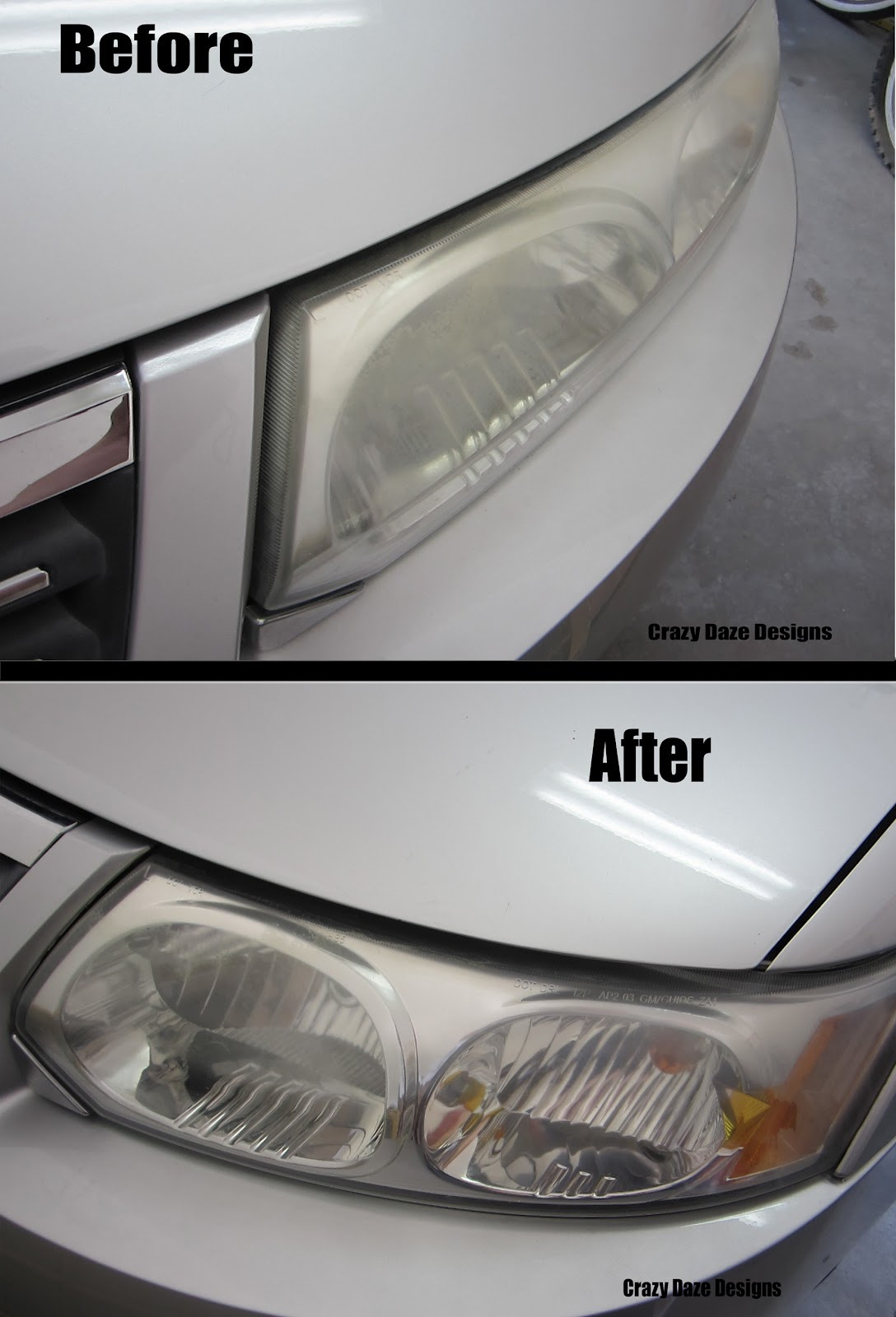 Best ideas about DIY Headlight Cleaner . Save or Pin Crazy Daze Designs Bud DIY Cleaning Foggy Headlights Now.