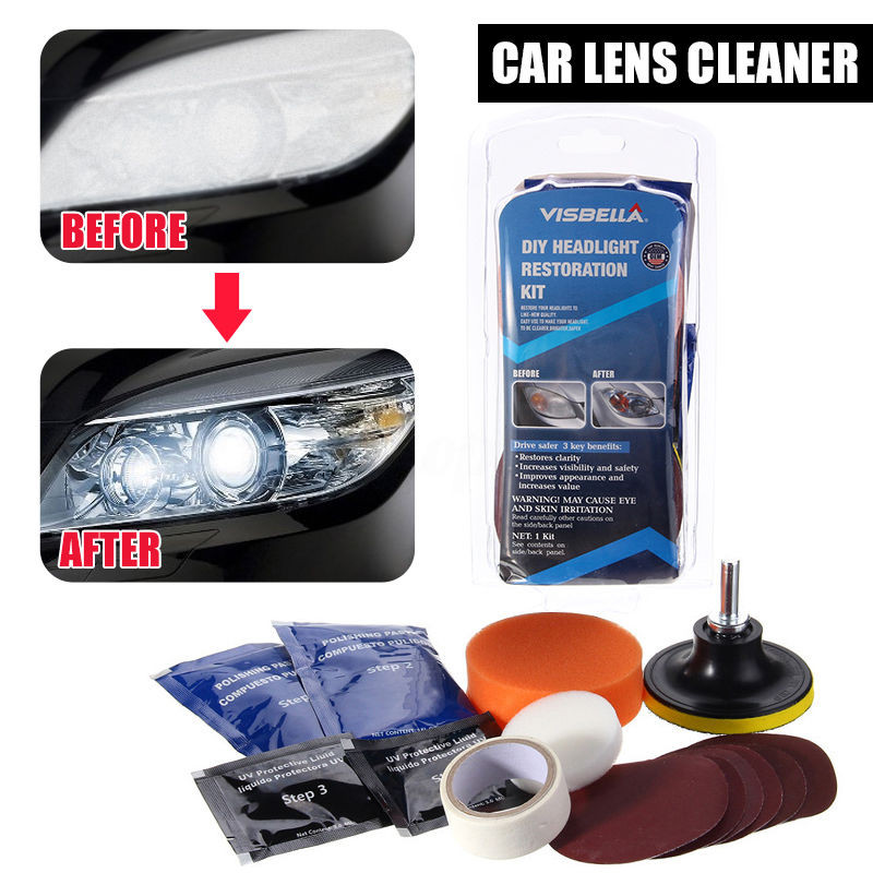 Best ideas about DIY Headlight Cleaner . Save or Pin Visbella Car Vehicle Motorcycle Headlight Lamp Lens Now.
