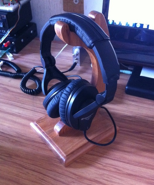 Best ideas about DIY Headphone Stand . Save or Pin Wooden Headphone Stand 4 Steps Now.