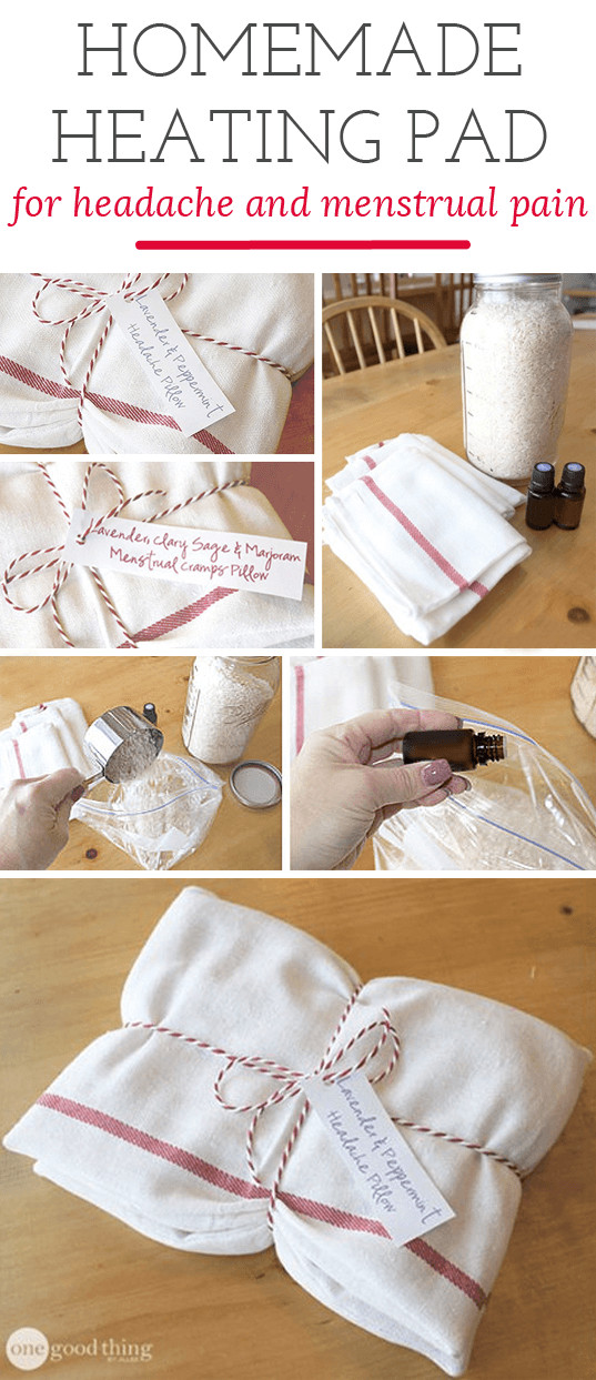 Best ideas about DIY Heating Pad . Save or Pin Homemade Heating Pad For Headaches & Cramps e Good Now.