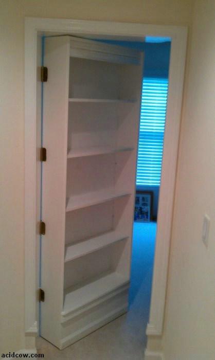 Best ideas about DIY Hidden Door Plans . Save or Pin Hidden Door Bookshelf DIY 16 pics Now.