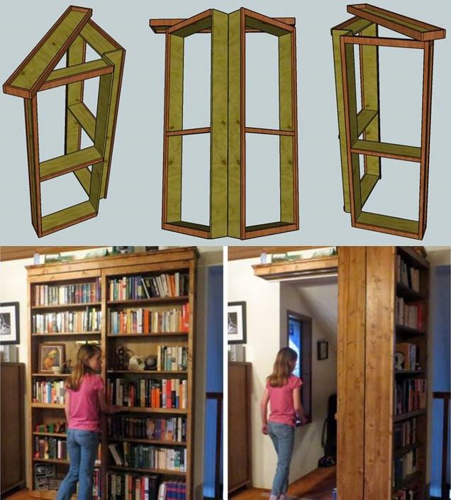 Best ideas about DIY Hidden Door Plans . Save or Pin Wonderful DIY bo Bookshelf And Secret Door Now.