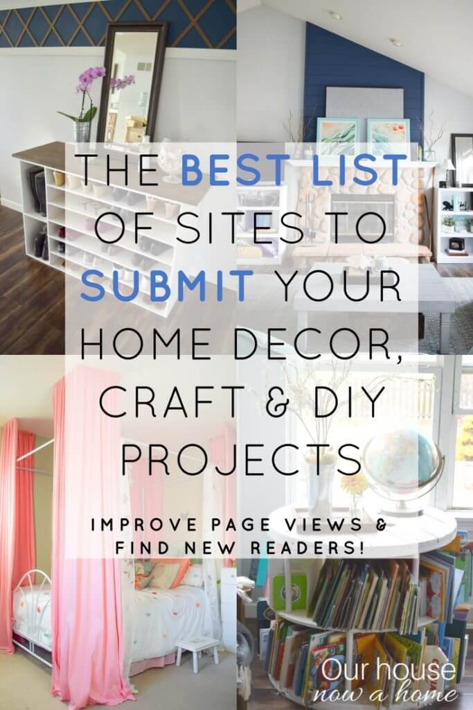 Best ideas about DIY Home Decor Blogs . Save or Pin A list of sites to submit home decor craft and DIY Now.