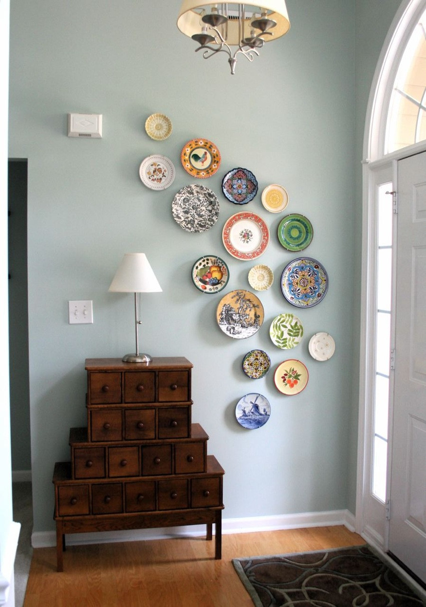 Best ideas about DIY Home Decor Blogs . Save or Pin diy wall art from plates A Pop of Pretty Blog Canadian Now.