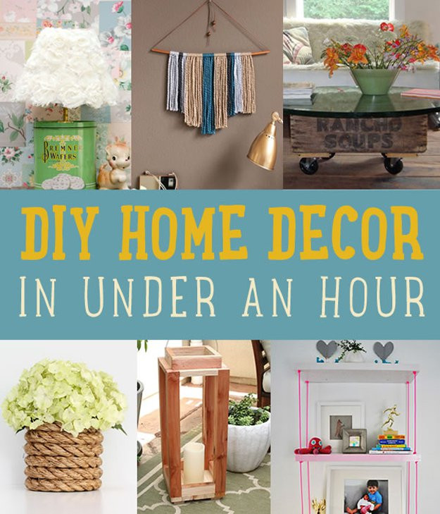 Best ideas about DIY Home Decor Crafts . Save or Pin Quick Home Decor Project Ideas DIY Projects Craft Ideas Now.