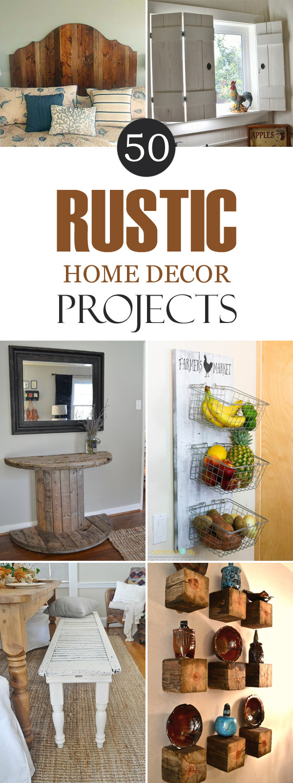 Best ideas about DIY Home Decor Crafts . Save or Pin 50 Rustic DIY Home Decor Projects Now.