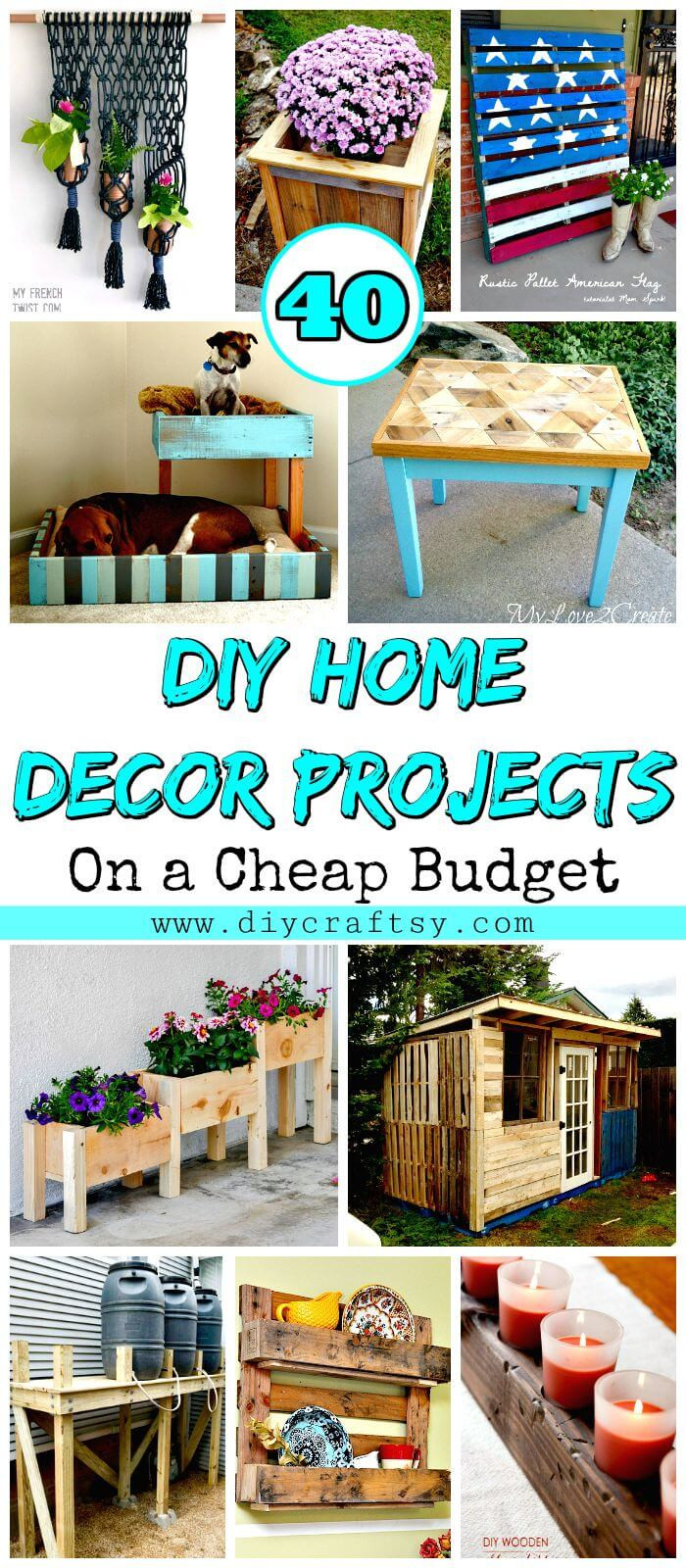 Best ideas about DIY Home Decor Crafts . Save or Pin 40 DIY Home Decor Projects on a Cheap Bud DIY & Crafts Now.