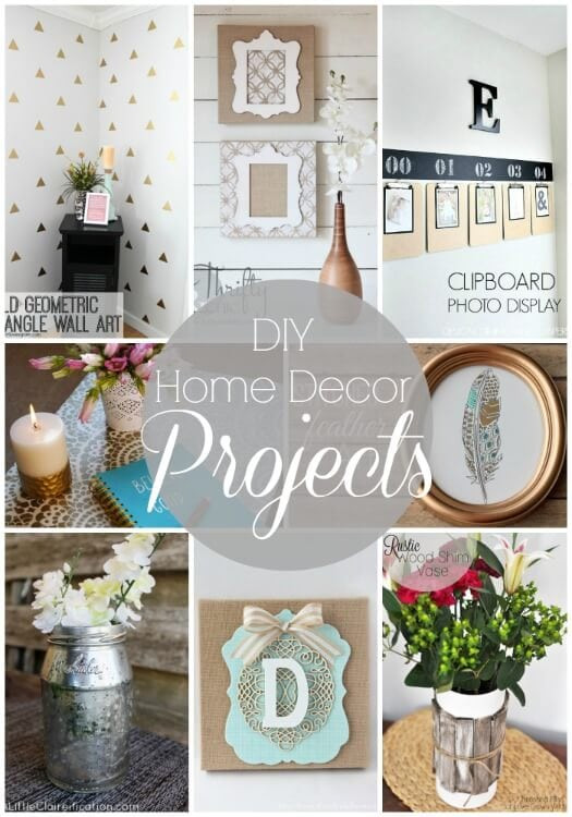 Best ideas about DIY Home Decor Crafts . Save or Pin 20 DIY Home Decor Projects Link Party Features I Heart Now.