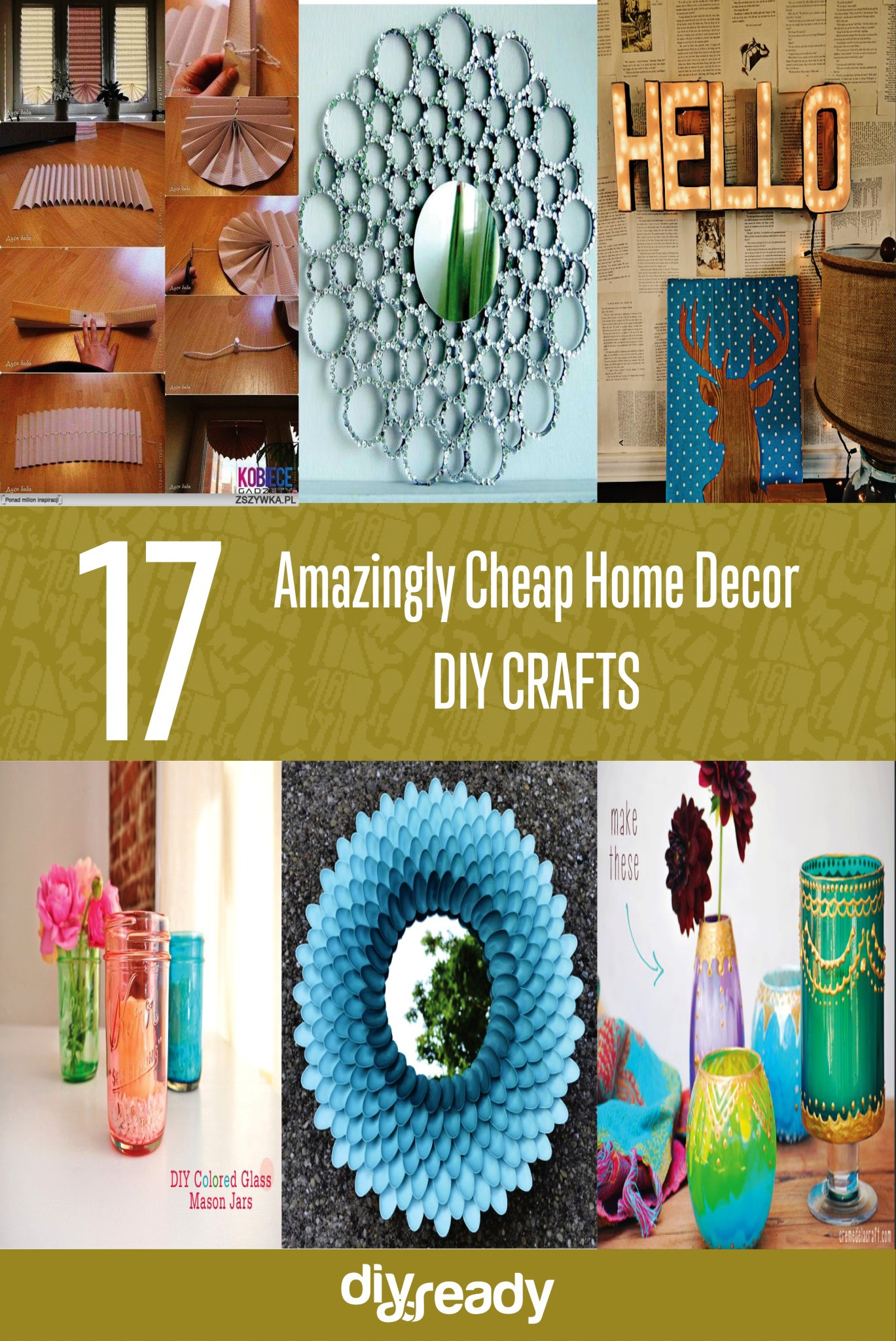 Best ideas about DIY Home Decor Crafts . Save or Pin Amazingly Cheap Home Decor Now.
