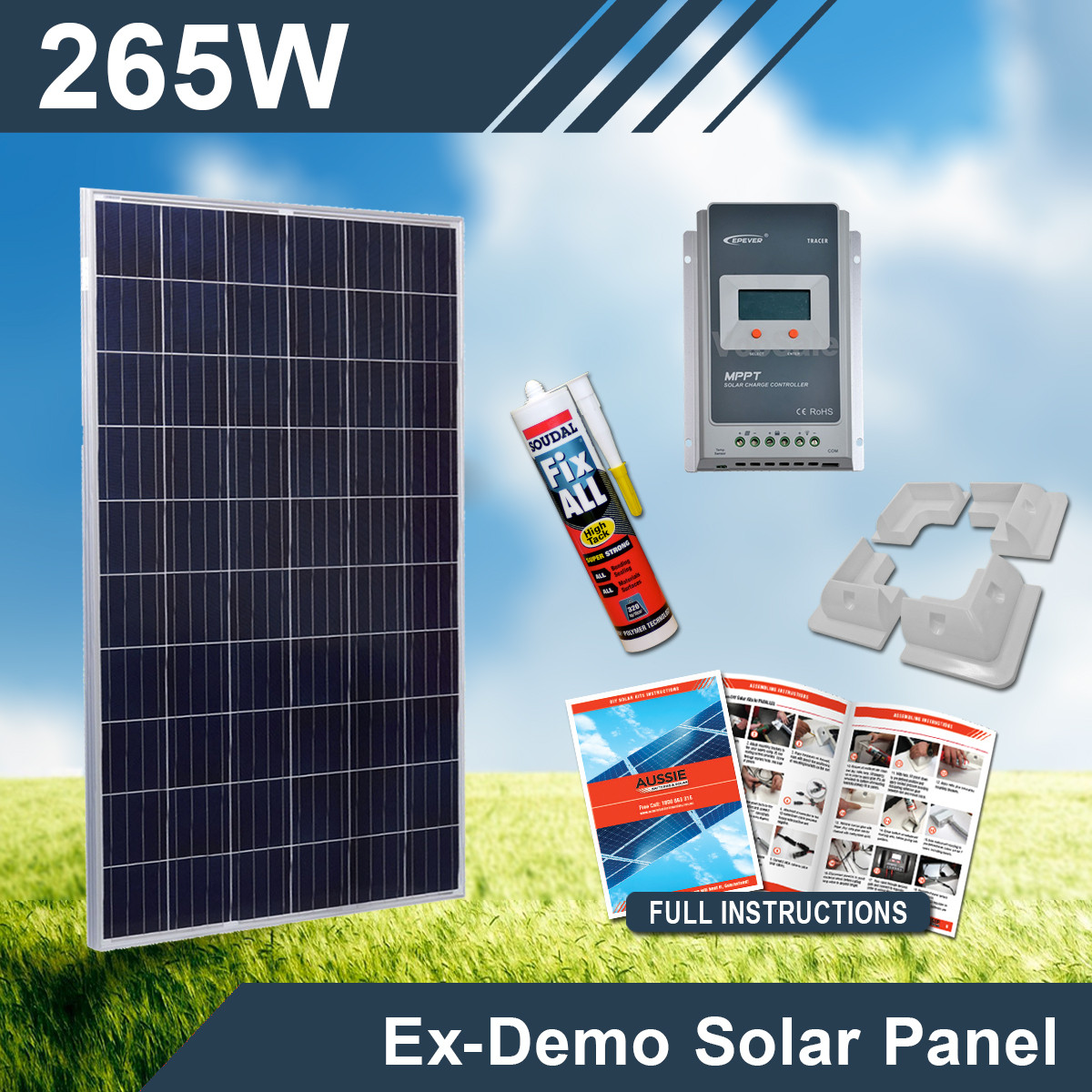 Best ideas about DIY Home Solar Kits . Save or Pin 265W 12V Ex Demo plete DIY Solar Kit Now.