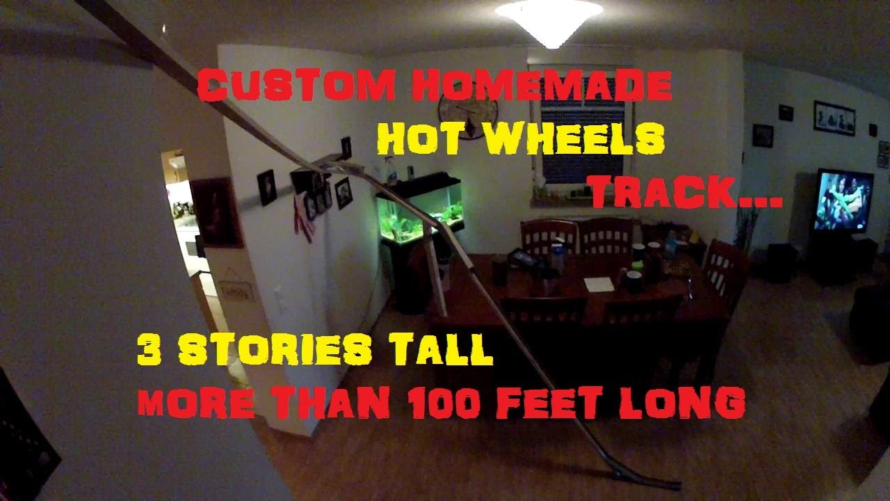 Best ideas about DIY Hot Wheels Track . Save or Pin HOT WHEELS CUSTOM TRACK HOMEMADE 3 STORY HIGH 100 FOOT Now.