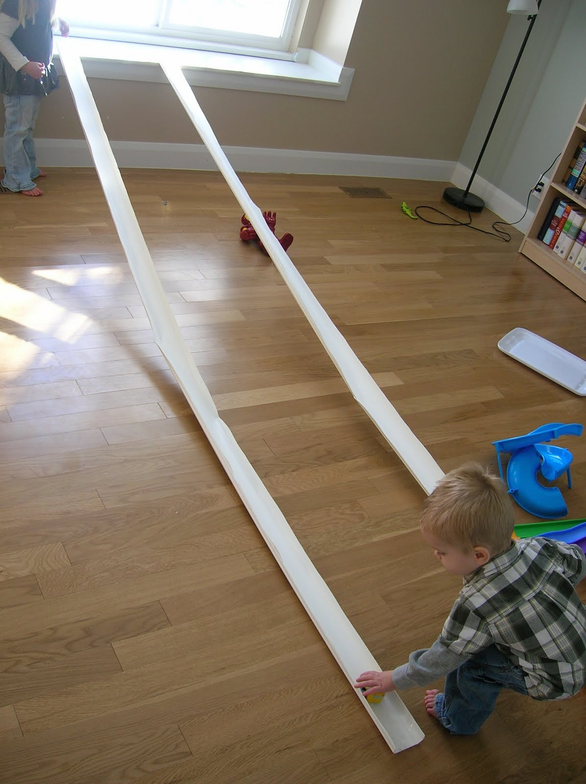Best ideas about DIY Hot Wheels Track . Save or Pin $5 Rain Gutter Race Track Six Sisters Stuff Now.