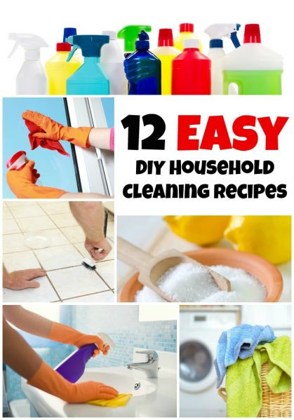 Best ideas about DIY House Cleaning . Save or Pin 12 Easy DIY Household Cleaning Recipes Dollar Store Crafts Now.