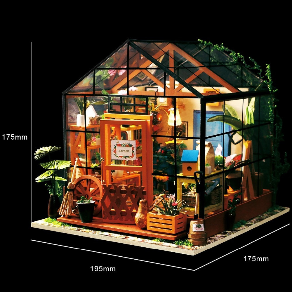 Best ideas about DIY House Kits . Save or Pin Robotime Miniature Doll House DIY Kathy s Green Garden Now.
