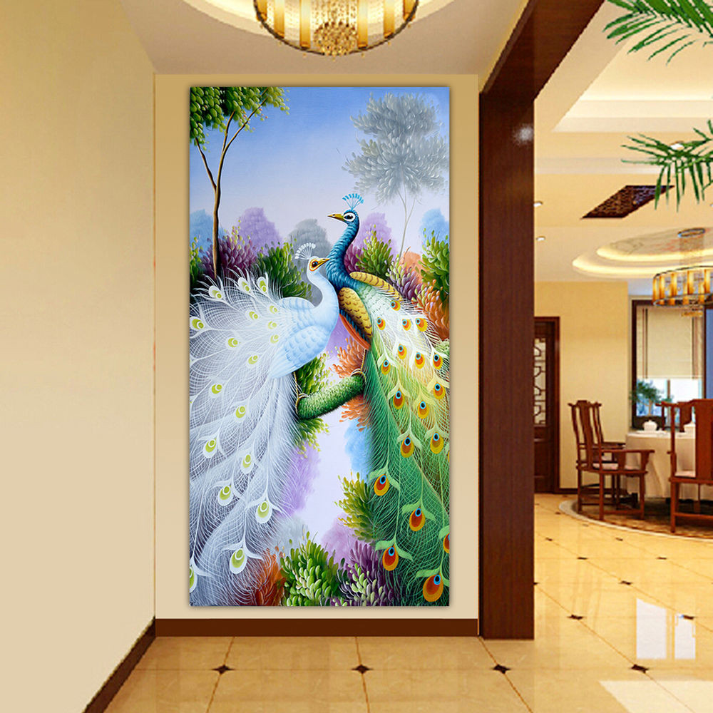 Best ideas about DIY House Painting . Save or Pin Peacock Diamond Embroidery Picture 5D DIY Painting Craft Now.