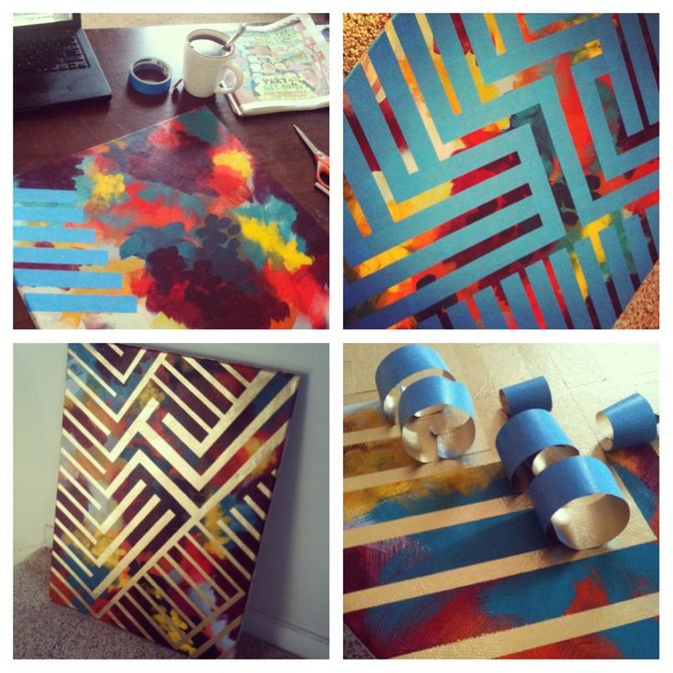 Best ideas about DIY House Painting . Save or Pin Paint canvas Tape with painters tape Spray paint Peel Now.