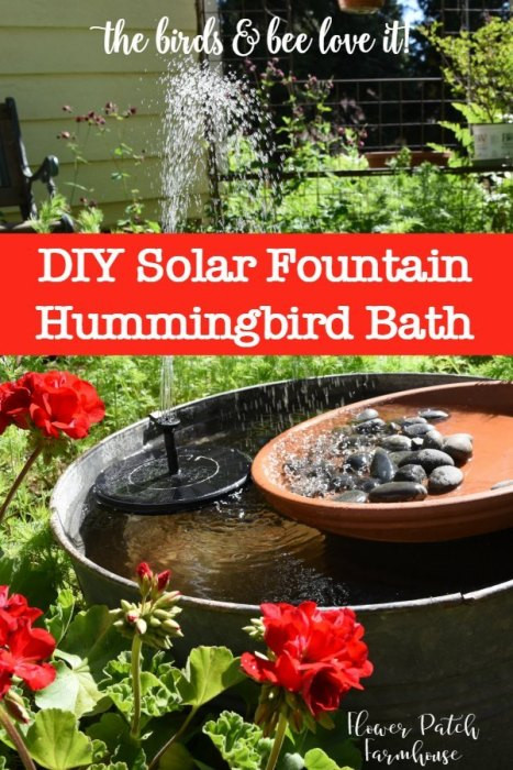 Best ideas about DIY Hummingbird Bath . Save or Pin DIY Solar Fountain Hummingbird Bath Flower Patch Farmhouse Now.