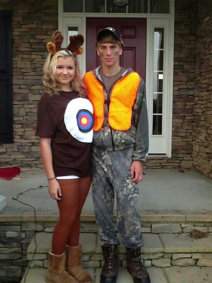 Best ideas about DIY Hunter Costume . Save or Pin Deer and hunter costume Holloween costumes Now.