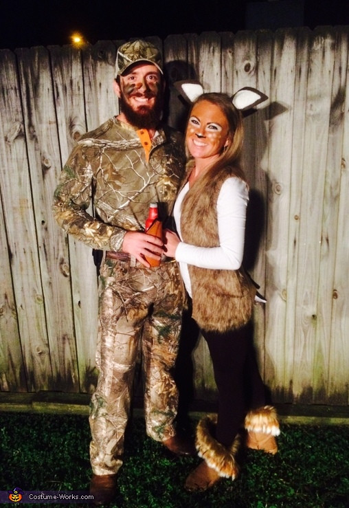 Best ideas about DIY Hunter Costume . Save or Pin Deer and Hunter Couples Halloween Costume Now.
