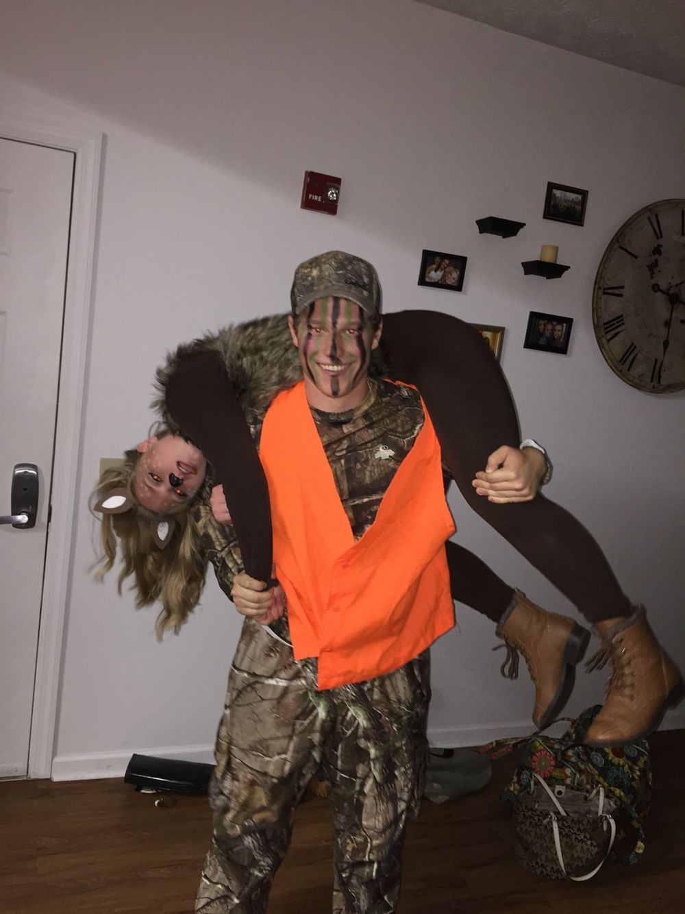 Best ideas about DIY Hunter Costume . Save or Pin Deer and Hunter costume Halloween Pinterest Now.