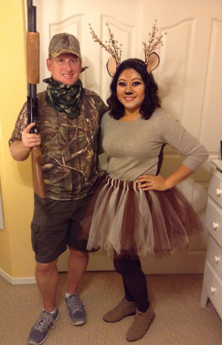 Best ideas about DIY Hunter Costume . Save or Pin DIY Hunter Deer Halloween Costume for Couples easy last Now.